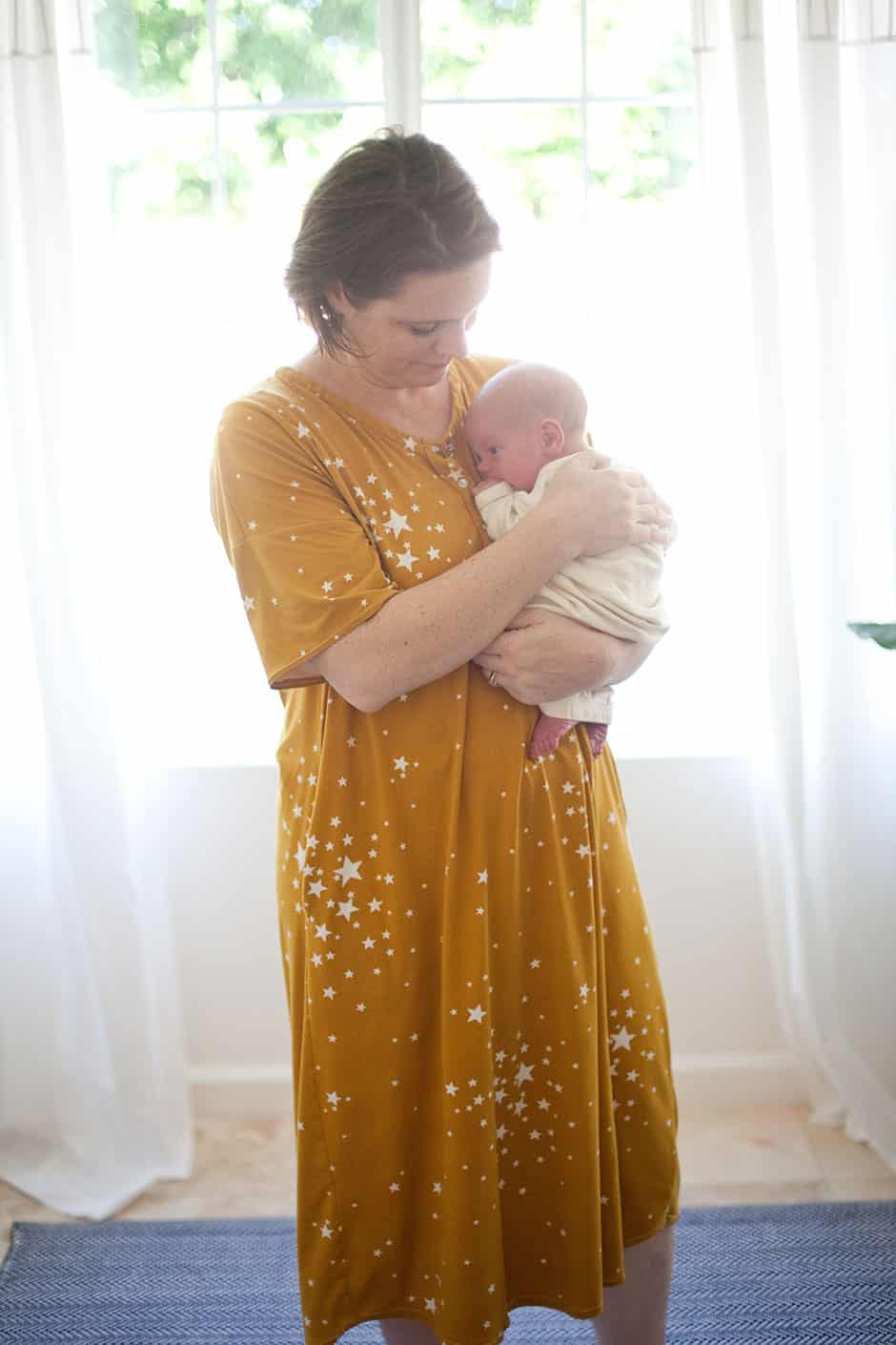 postpartum mom and newborn