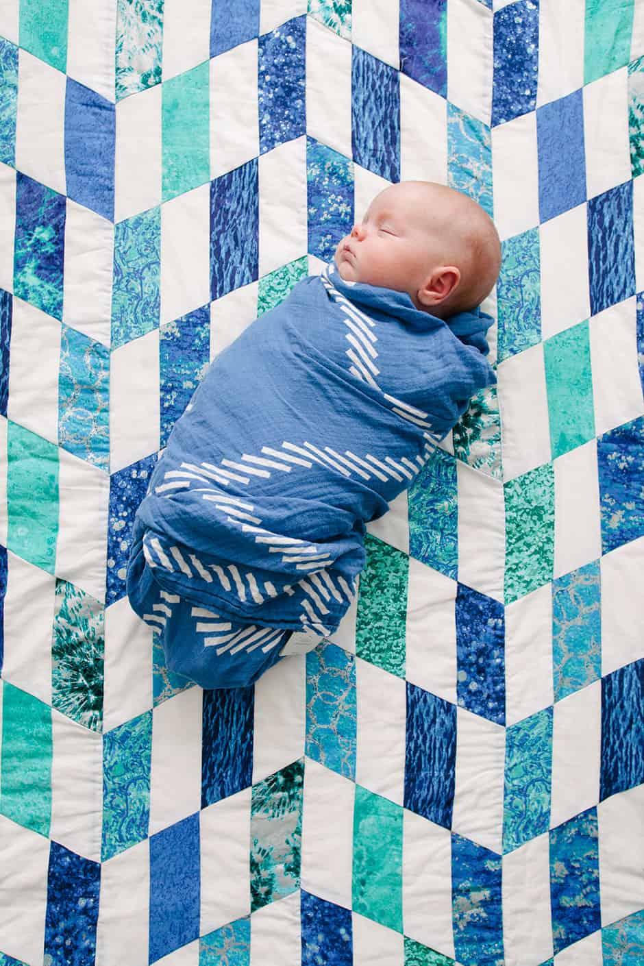 newborn sewing quilt
