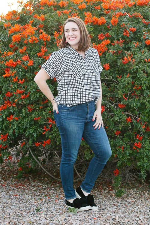 sewing pattern button up shirt