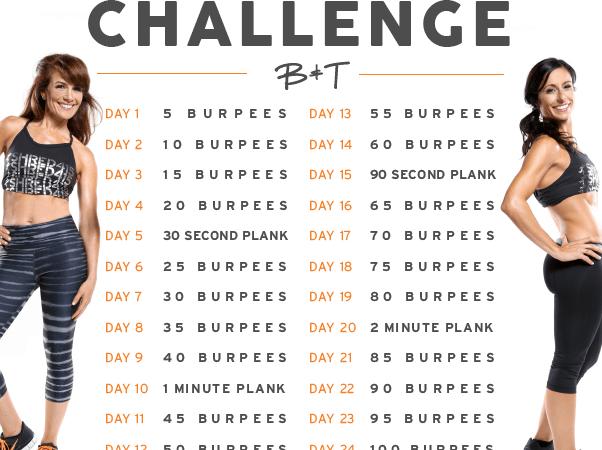 25-DAY BURPEE CHALLENGE!