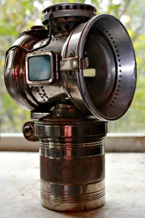 20th century brass carbide lamp