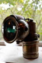 old sol brass carbide lamp