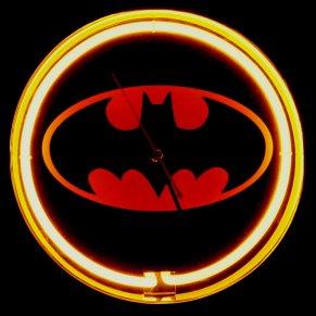 batsignal neon clock dc comics lighted