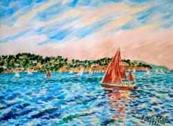 Sailboats on the Bay