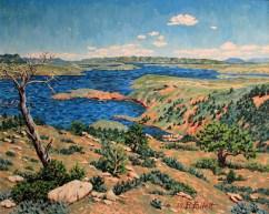Seminoe Reservoir Landscape, Wyoming
