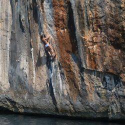 Bonnie Lass Charters - Climbing coastline