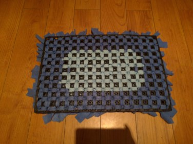 Back of DIY Snuffle Mat for dogs