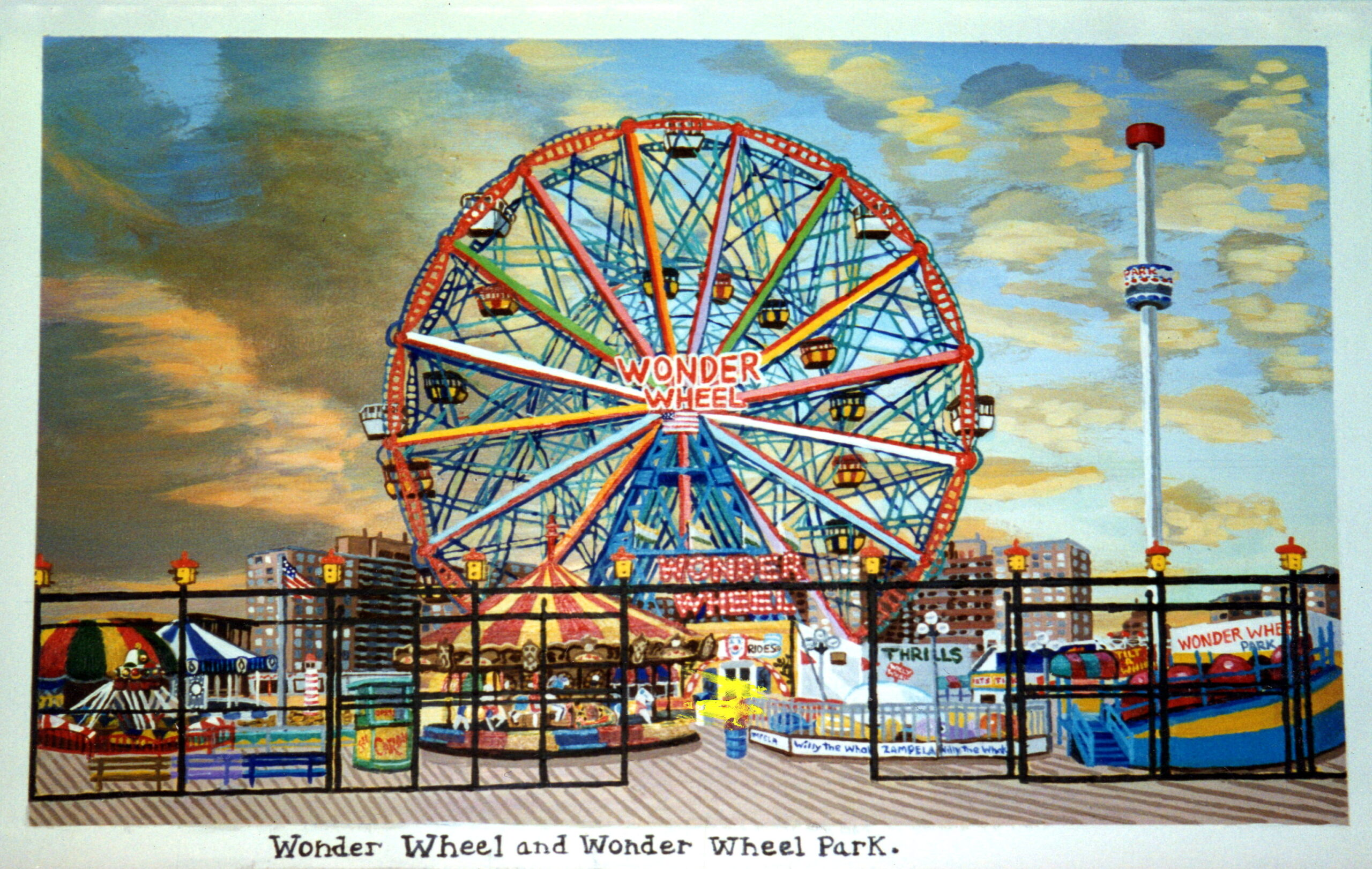 Coney Island Postcards Mural For Mailbox Room Of Ryder