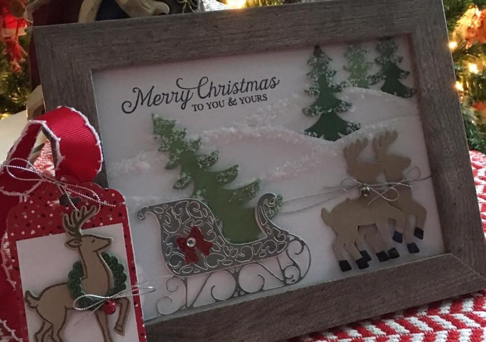Santa's Sleigh Framed Art