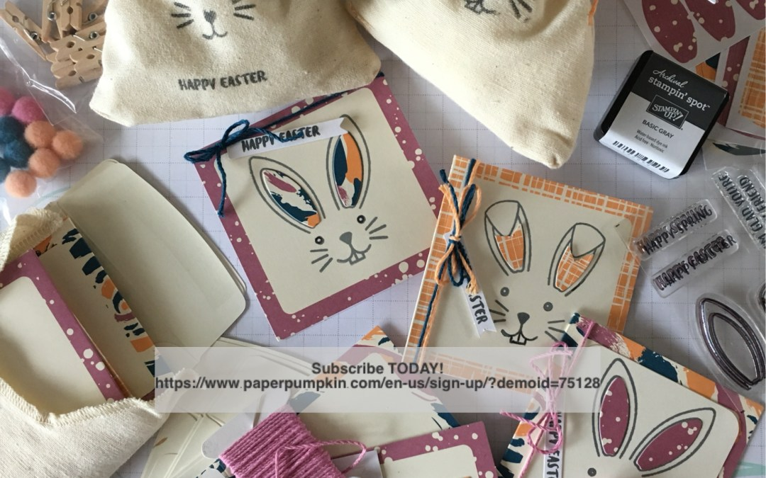 March 2017 Paper Pumpkin Bunny Buddies fabulous for Easter!