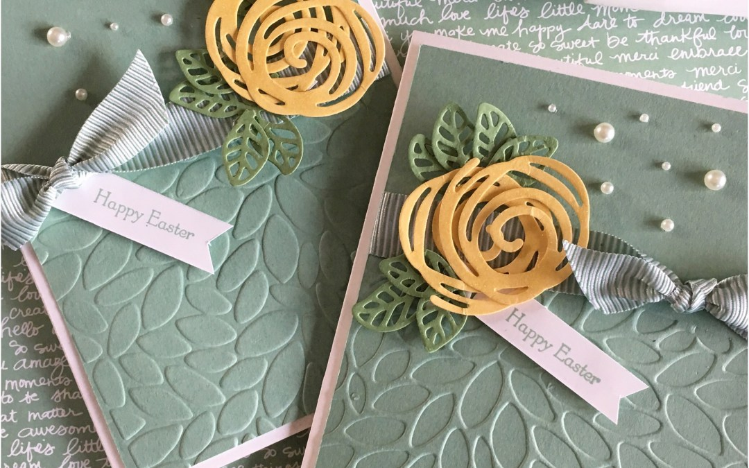 Easter Card with In Color Mint Macaron