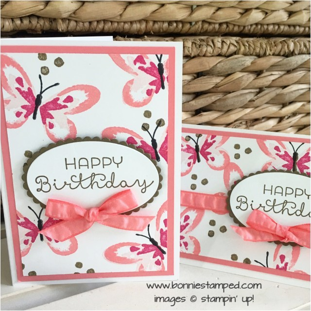 #watercolrwings #cottagegreetings #happybirthdaycards #notecards #stampinup #retiringproduct