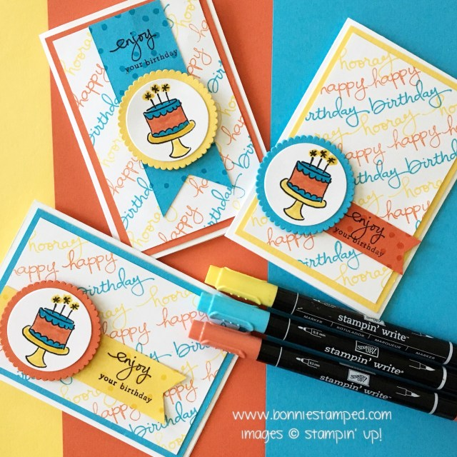 #endlessbirthdaywishes #bonniestamped #retiringprodiucts #stampinup