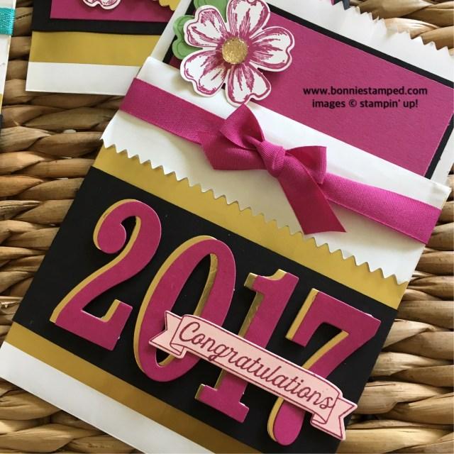#graduation #giftcardholders #largenumbers #bonniestamped #stripedtreatbags