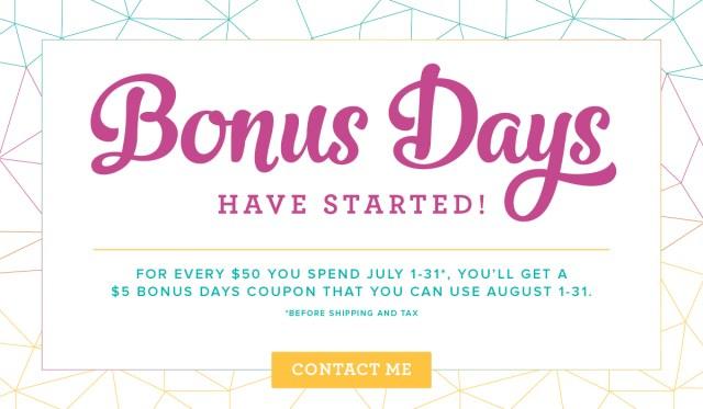 #bonusdays #bonniestamped #stampinup
