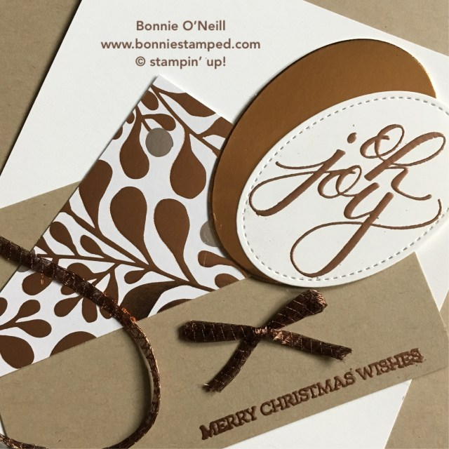 #copperfoil #stampinup #bonniestamped #ohjoy