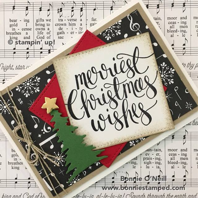 #merriestchristmaswishes #stampinup #watercolorchristmas #bonniestamped #christmasclub