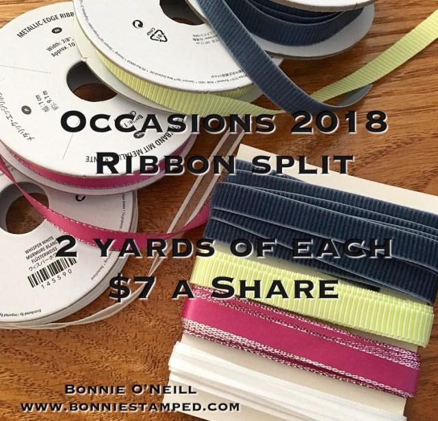 #ribbonsplit #bonniestamped