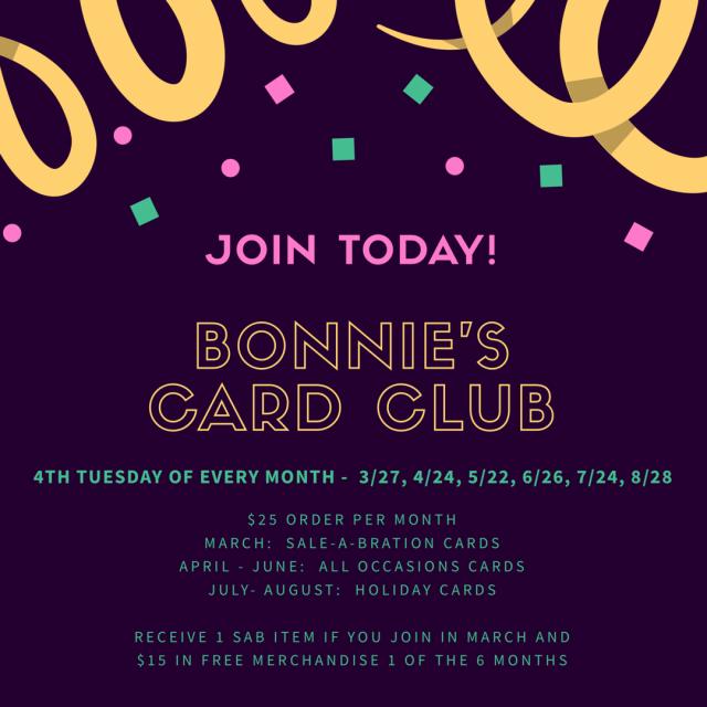 #bonniestamped #cardclub