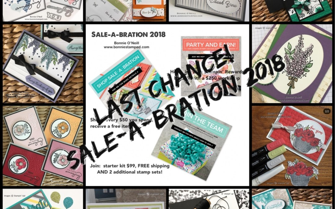 Last Day of Sale-a-bration 2018!
