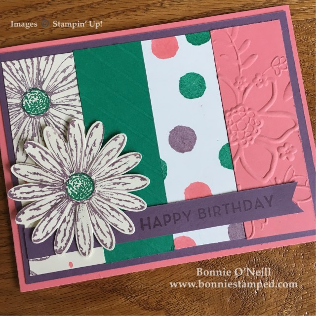 #daisydelight #bundle #bonniestamped #stampinup #colorfusers #bigonbirthday