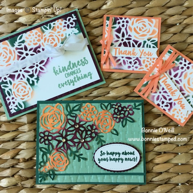 #abstractimpressions #bonniestamped #stampinup