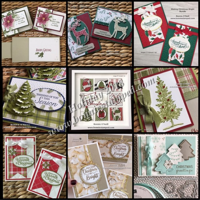 #bonniestamped #createwithbonnie #stampinup #christmas #cards