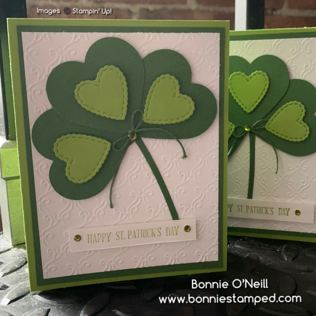 making clovers with heart punch