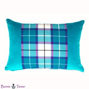 Bonnie Aqua Tartan Accent Cushion