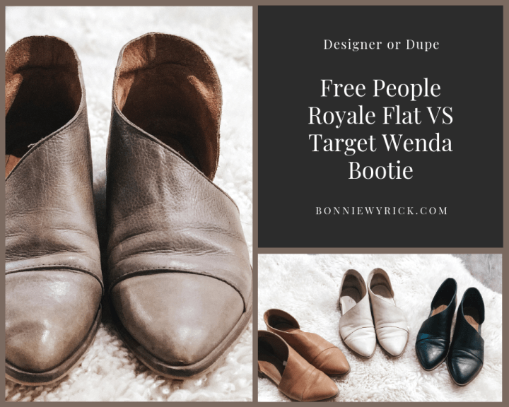Designer or Dupe: Free People Royale Flat VS Target Wenda Bootie