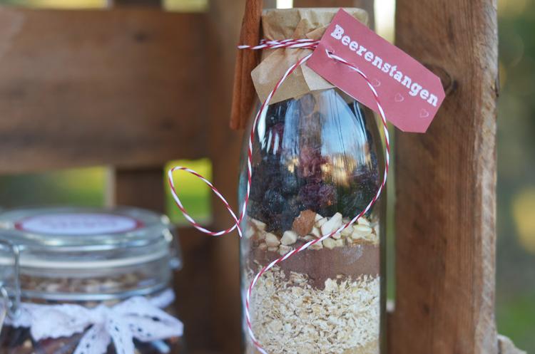 Rezepte für Backmischungen im Glas