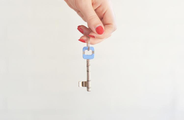 Schlüssel bemalen