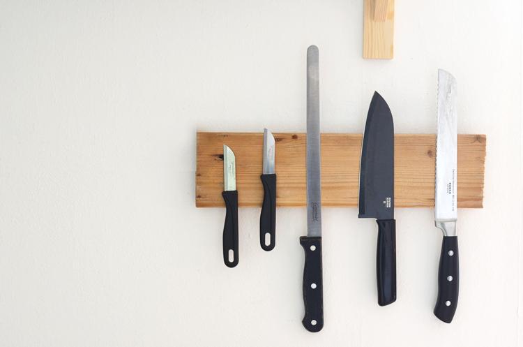 Magnetbrett für Messer selber bauen