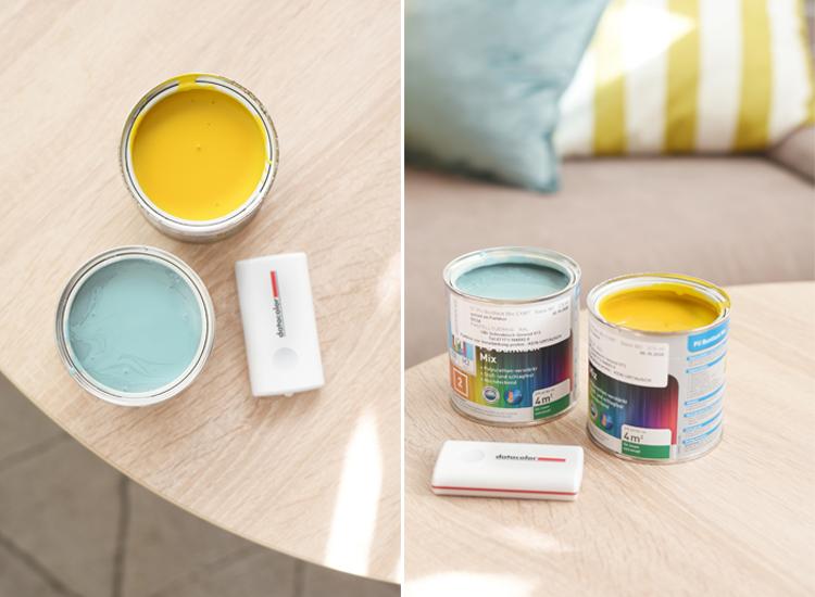wohnzimmer-bild-farbig-diy