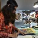 Amruta Patil dans son atelier - Photo Alain François
