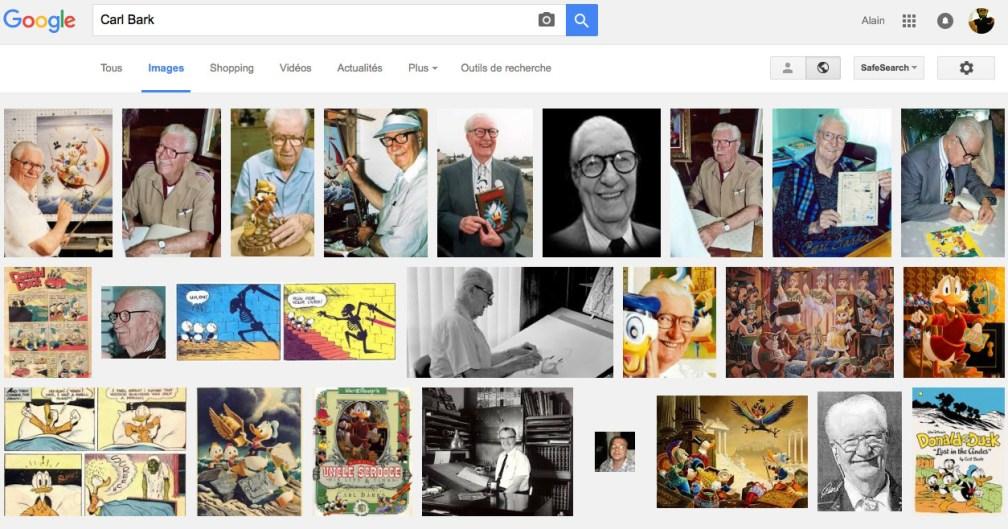 "recherche Google ""Carl Barks"""