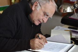 Portrait de Golo dessinant