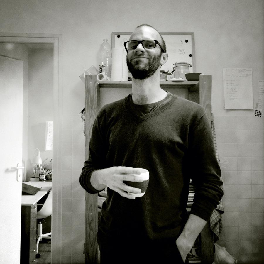 Laurent Bourlaud à l'atelier du Gratin - Photo Alain François