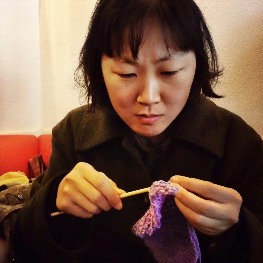 Yoon-Sun Park et le crochet - Photo Alain François