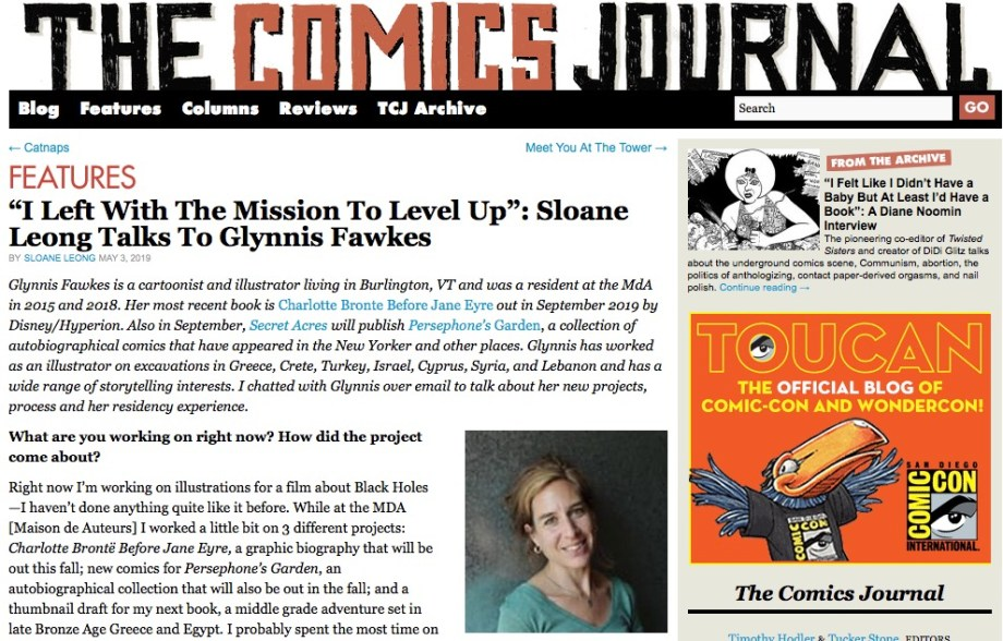Glynnis Fawkes sur The Comics Journal