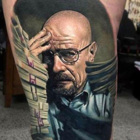 Realism tattoo of Walter White