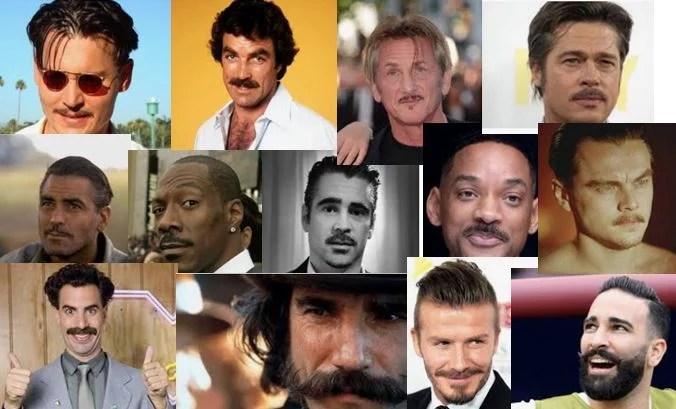 Pas besoin de Movember pour porter la moustache, les stars le font très bien