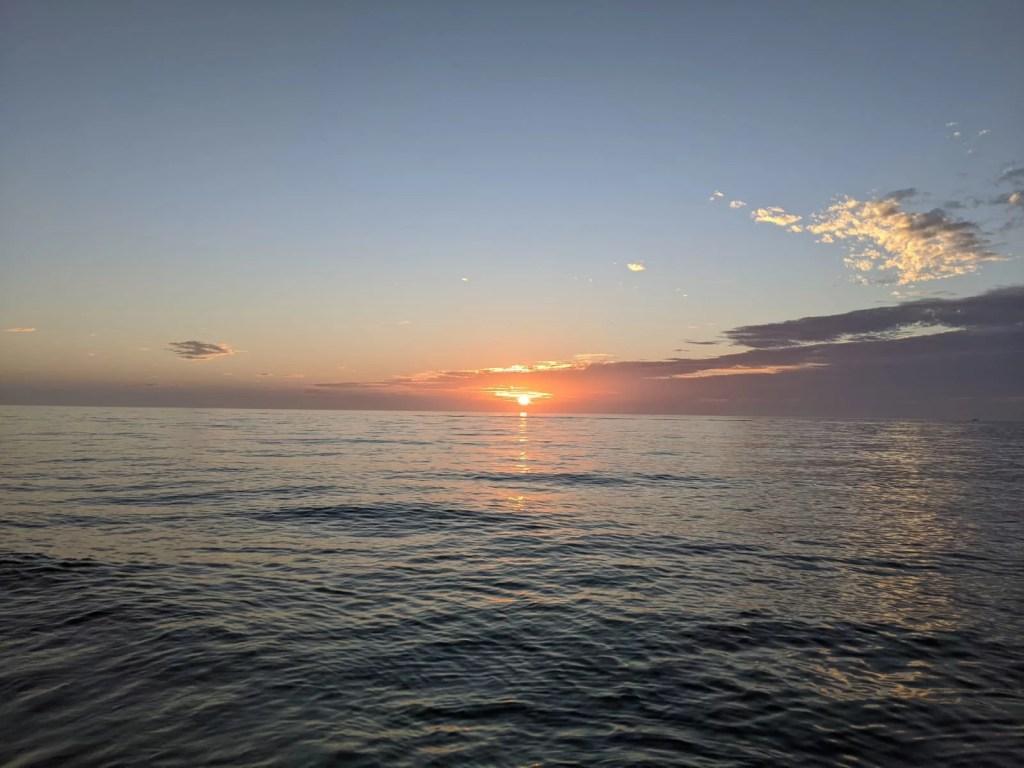 Couché de soleil à Miami sur la mer