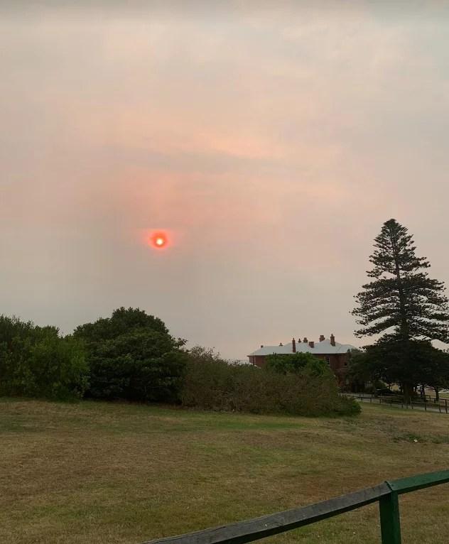 ciel rouge de Sydney