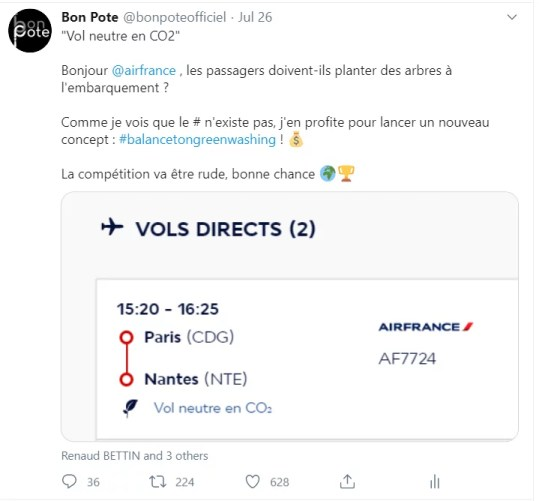 Loi de Brandolini et un tweet d'air France