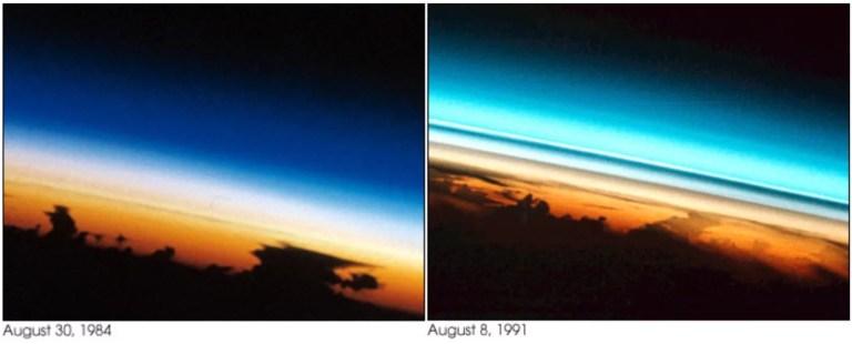 Visualisation dans l'atmosphère des aérosols du mont Pinatubo