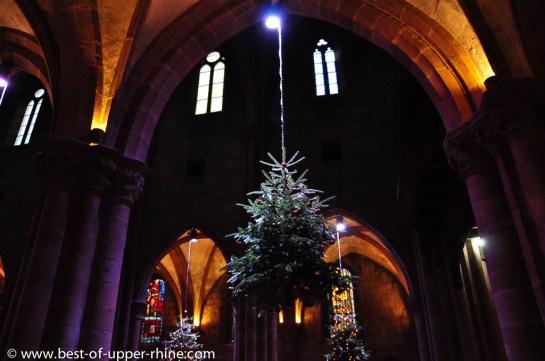 Noel 2012 Selestat, Alsace. Exposition de sapins de Noël à travers les âges.