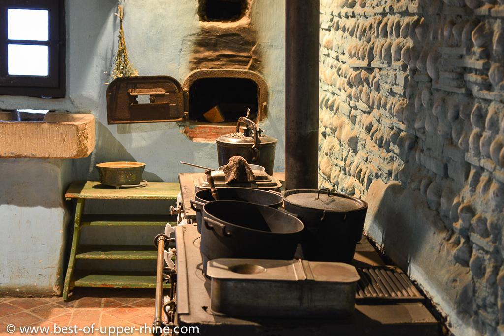 Une cuisine comme autrefois. Ecomusée d'Alsace.