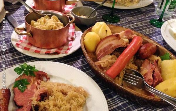 La choucroute est connue comme LE plat régional d'Alsace.