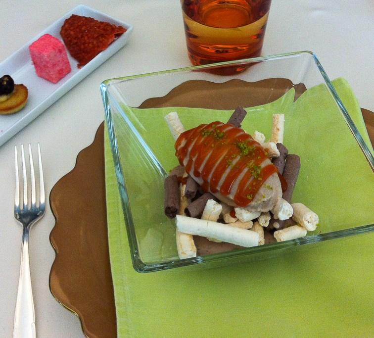 Dessert à l'Auberge de l'Ill à Illhaeusern